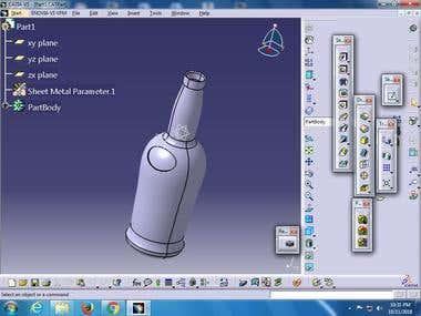 3D Modle for Whisky Bottle Manufracturing