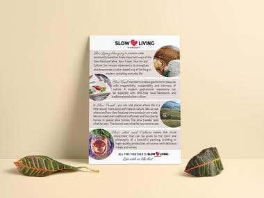Flyer design for gastronomy event