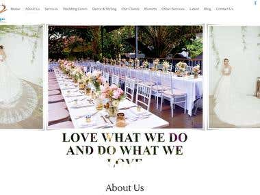 created Wordpress site