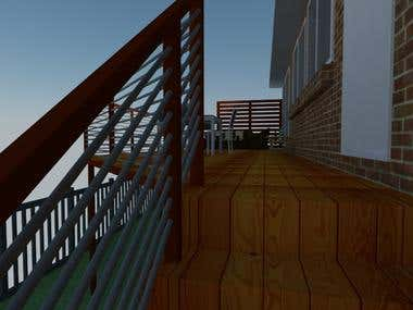 BALCONY DESIGN FOR AN AUSTRALIAN CLIENT