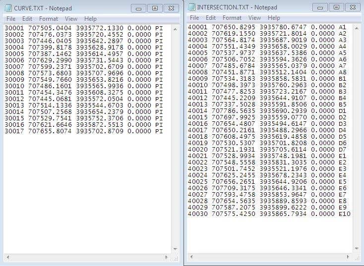 Horizontal Curve Table & Axis Coordination AutoLISP Project | Freelancer