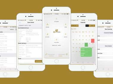 CaterNote - iOS Application