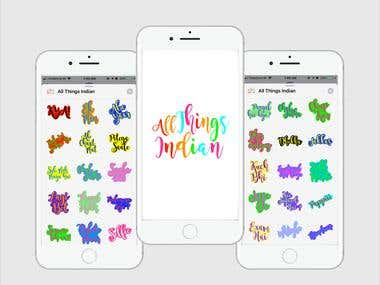 All Things Indian - iMessage Sticker Application