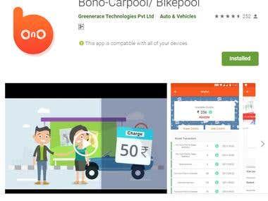 Bonoride - A carpool/bikepool service provider.