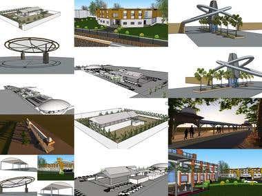 Miscellaneous 3d modelling tasks