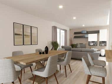 Home Interior Rendering