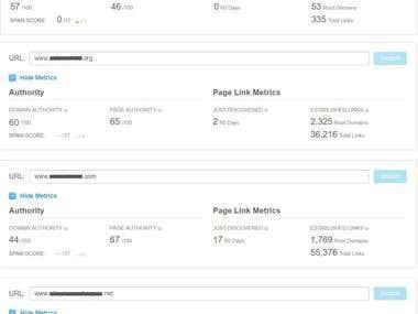 some Domain Metrics