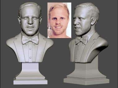 Bust 3d model for present