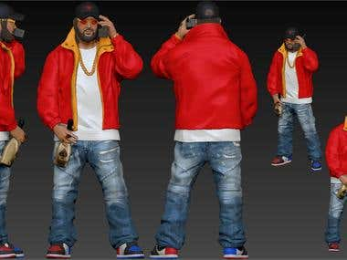 Rap artist 3d model
