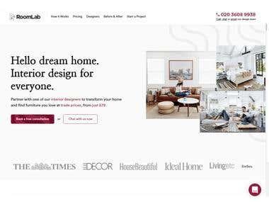Interior Design Website in PHP