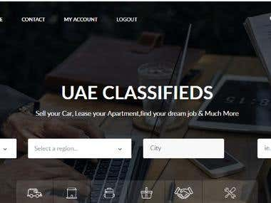 Classifieds Website