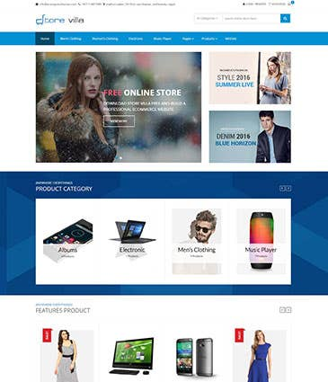 E eCommerce website