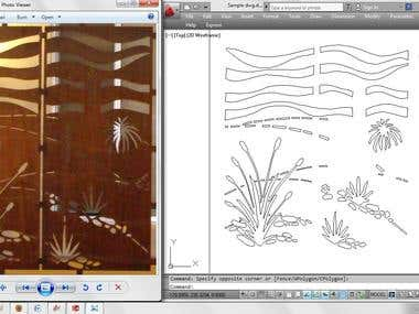 .dxf files using AutoCAD for Laser Cutting & CNC Cutting