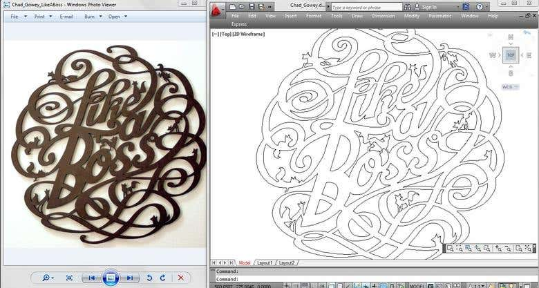 dxf files using AutoCAD for Laser Cutting & CNC Cutting