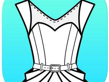 Fashion Design Flat Sketch(Android,iOS)