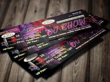 Dj Party Ticket Design