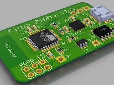A smart skateboard PCB