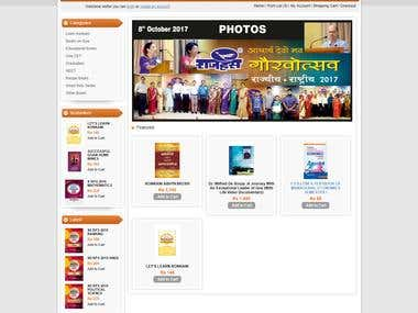 eCommerce website for online Book Selling