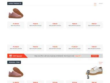 Multi vendor eCommerce Website for Foot wear brand