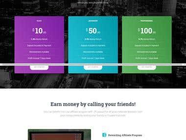 Website for referral program