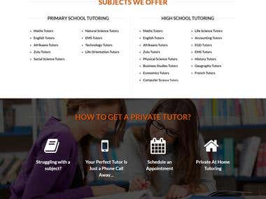 Tutor Website Design-Development, SEO optimization & Content