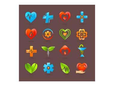 Medical Icons design,