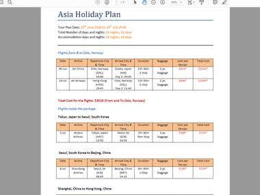 Complete Asia Holiday Plan from/to Norway