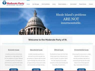 Simple and Elegant Wordpress Website for RI Moderate Party