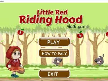 2D Platformer Math Game - Little Red Riding Hood
