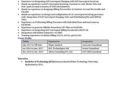 Tirupatik - SAP Hybris Billing, SOM, BRIM, SAP CI, SAP CC