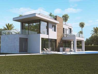 Exterior rendering of house