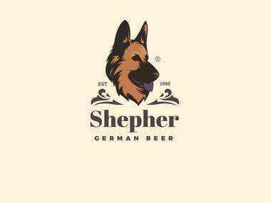 Shepherd, German beer - Logo design