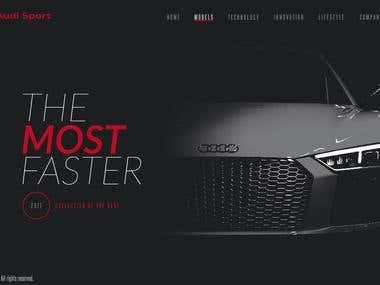Audi Sport - Landing page