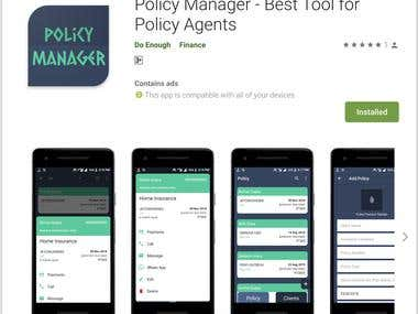 Policy Manager Android App