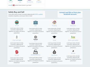 A classified web template