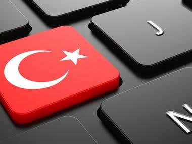 I will translate your English texts to Turkish