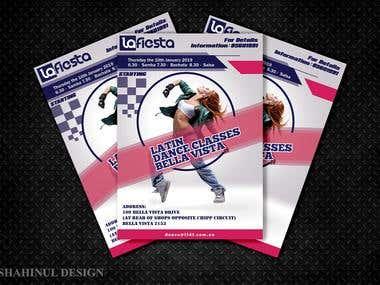 Flyer Design for Dance Classes