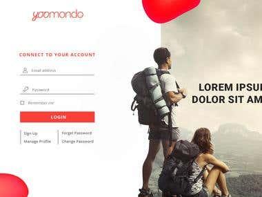 Design login screen