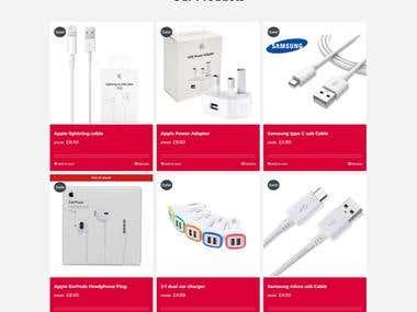 E-commerce website and a logo
