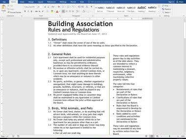 Microsoft Word Work Sample