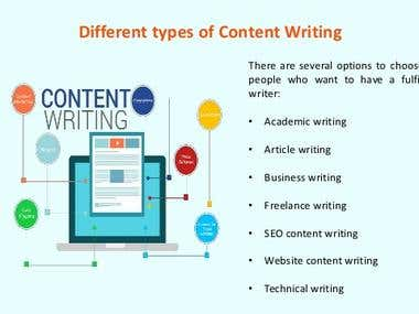 Content /Article/Blog writing