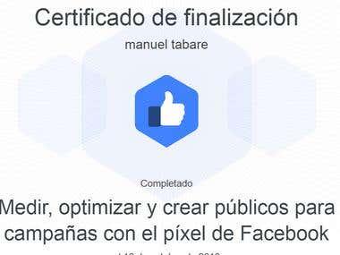 Certificación de facebook
