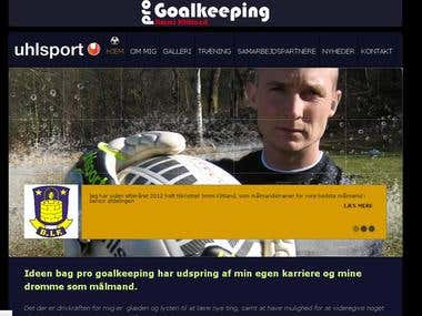 Progoalkeeping Jimmi Klitland Website in Wordpress
