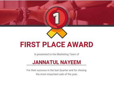 Marketing Team Award