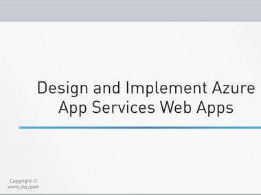Azure Training Content Creation