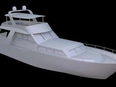 Yatch Model with environment
