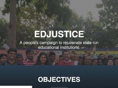 Edjustice NGO Website