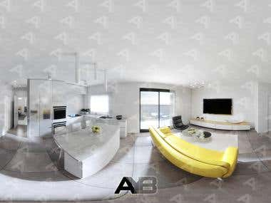360-degree 3D Visualization for residential Interior space.