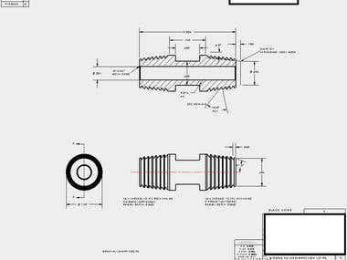 Machined Part Drawing Example