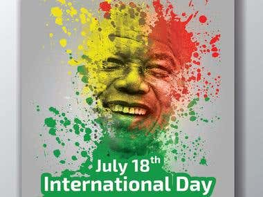 International day of Nelson Mandela poster design for the UN